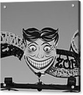 Tillie's Scream Zone In Black And White Acrylic Print