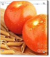 Tomatoes And Pasta Acrylic Print