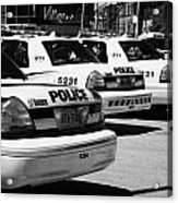 Toronto Police Squad Cars Outside Police Station In Downtown Toronto Ontario Canada Acrylic Print