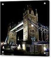 Tower Bridge At Night Acrylic Print