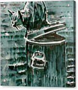 Trashcan Tom Acrylic Print