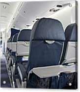 Tray Table On An Airplane Acrylic Print by Jaak Nilson