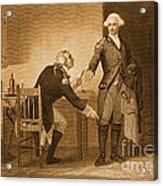 Treason Of Benedict Arnold, 1780 Acrylic Print by Photo Researchers
