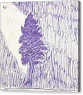 Tree In Moonlight Acrylic Print