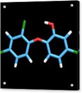 Triclosan Antibiotic Drug Molecule Acrylic Print by Dr Tim Evans