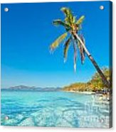 Tropical Beach Malcapuya Acrylic Print