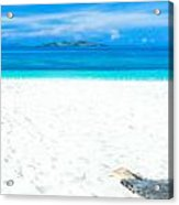Tropical Beach Panorama Acrylic Print