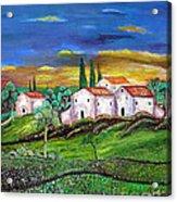 Tuscany Acrylic Print by Kostas Dendrinos