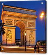 Twilight At Arc De Triomphe Acrylic Print