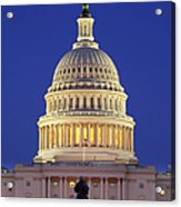 Twilight Over Us Capitol Acrylic Print