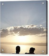 Two Friends Enjoy The Sunset Acrylic Print