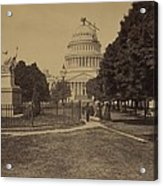 United States Capitol Building In 1863 Acrylic Print