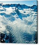 Upper Level Of Fox Glacier In New Zealand Acrylic Print