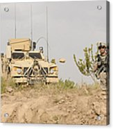 U.s. Army Sergeant Provides Security Acrylic Print