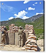 U.s. Army Soldier And An Afghan Acrylic Print