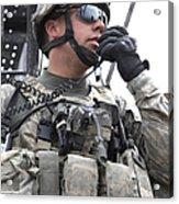 U.s. Army Soldier Communicates Acrylic Print