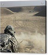 U.s. Army Soldier Fires A Barrett M82a1 Acrylic Print
