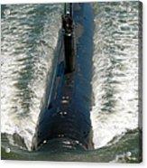 U.s. Navy Sailors Man A Topside Watch Acrylic Print