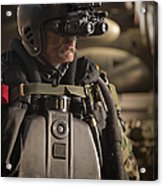 U.s. Navy Seal Equipped With Night Acrylic Print