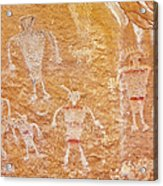 Usa, Utah And Colorado, Dinosaur National Monument, Petroglyphs Acrylic Print