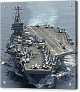 Uss Abraham Lincoln Transits The Indian Acrylic Print