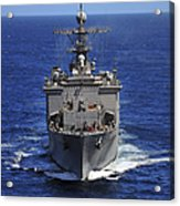 Uss Comstock Transits The Indian Ocean Acrylic Print