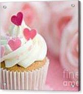 Valentine Cupcake Acrylic Print by Ruth Black