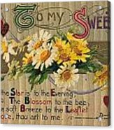 Valentines Day Card, 1910 Acrylic Print