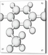 Vanillin Molecule Acrylic Print