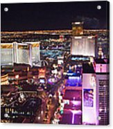 Vegas Strip At Night Acrylic Print