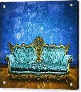 Victorian Sofa In Retro Room Acrylic Print