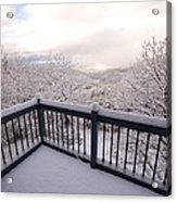 View From A Deck After A Recent Snow Acrylic Print