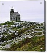 View Of Lighthouse, Rose Blanche Acrylic Print