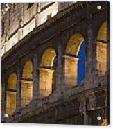 View Of The Roman Coliseum In Rome Acrylic Print