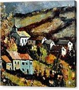 Village In Fall Acrylic Print