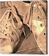 Vintage Sneakers Acrylic Print