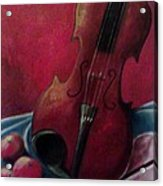 Violin With Apples Acrylic Print