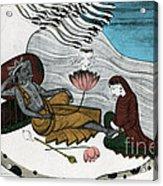 Vishnu And Lakshmi Acrylic Print