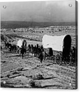 Wagon Train Acrylic Print