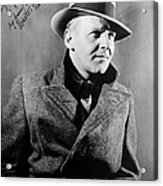 Walter Winchell (1897-1972) Acrylic Print by Granger
