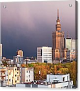 Warsaw Cityscape Acrylic Print