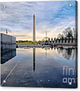 Washington Monument From The World War II Memorial Acrylic Print