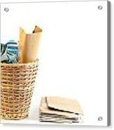 Waste Paper Bin Acrylic Print