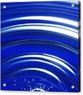 Water Drop Impact, High-speed Photograph Acrylic Print by Crown Copyrighthealth & Safety Laboratory