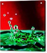 Water Drop Splashing Acrylic Print