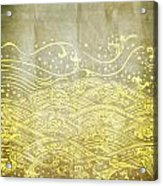 Water Pattern On Old Paper Acrylic Print
