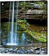 Waterfall In Deep Forest Acrylic Print