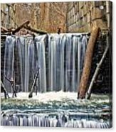 Waterfalls At Old Erie Canal Locks Acrylic Print