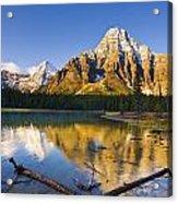 Waterfowl Lakes And Mount Chephren Acrylic Print