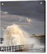 Waves Crashing, Sunderland, Tyne And Acrylic Print by John Short